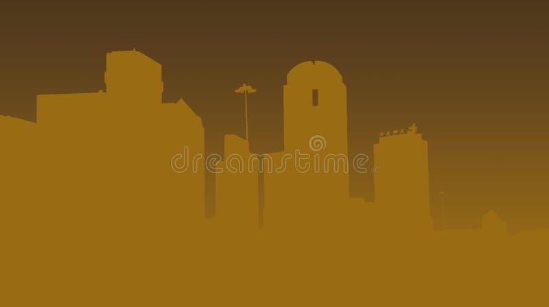 Vorm van Dallas vector illustratie