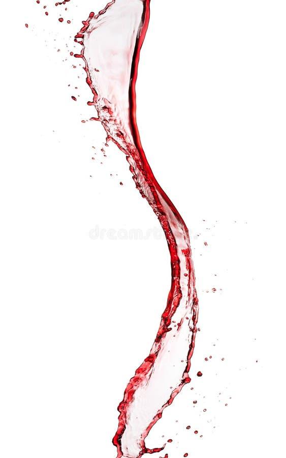Vorm van de rode wijn de abstracte plons op witte achtergrond royalty-vrije stock afbeeldingen
