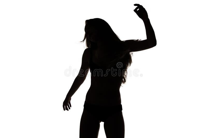 Vorm van sexy dansend meisje stock foto