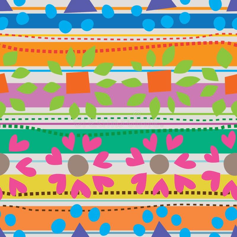 Vormcirkel rond naadloos patroon royalty-vrije illustratie