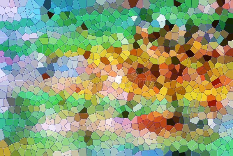 Vormen en wasstructuur in kleurrijke tinten, abstracte textuur stock illustratie