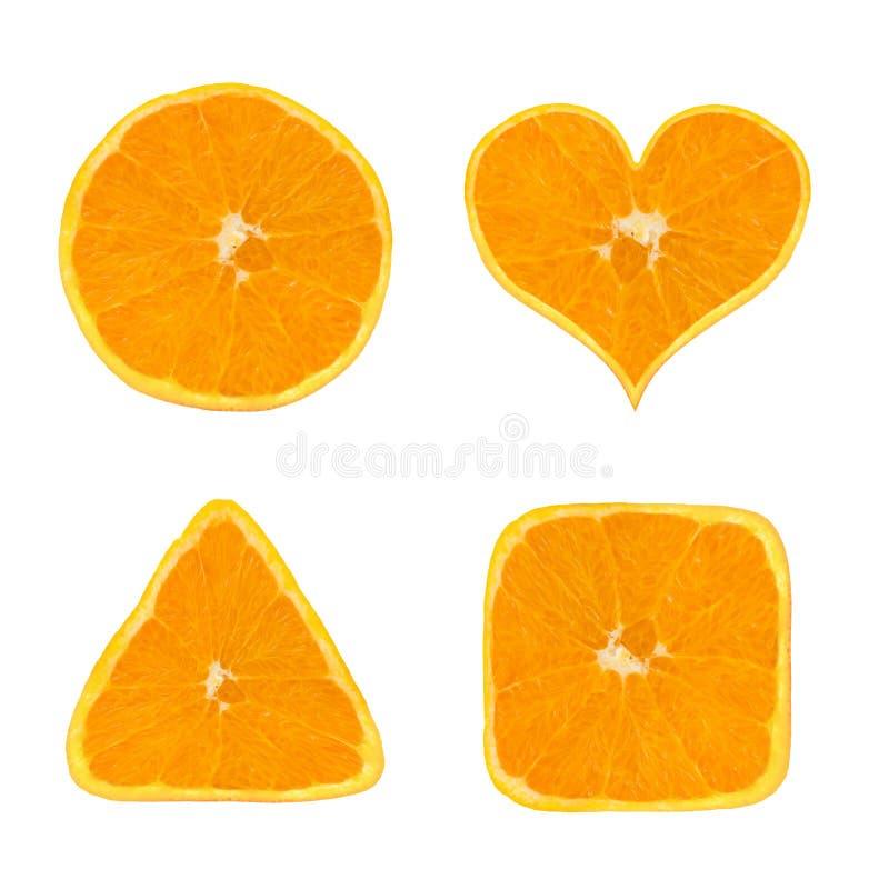 Vormen van oranje fruit stock fotografie