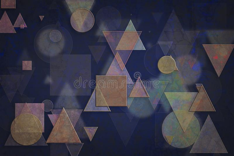 Vormsamenvatting, patroontextuur of achtergrond Kunst, slordig, generatief & Web royalty-vrije illustratie