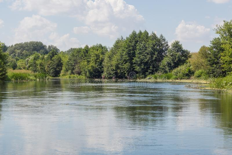Vorona river royalty free stock photo