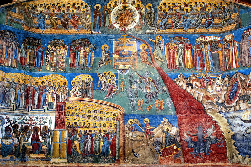 voronet Румынии суждения фрески дня стоковое фото rf