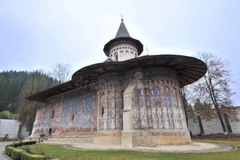 voronet för arvklosterromania unesco arkivfoton