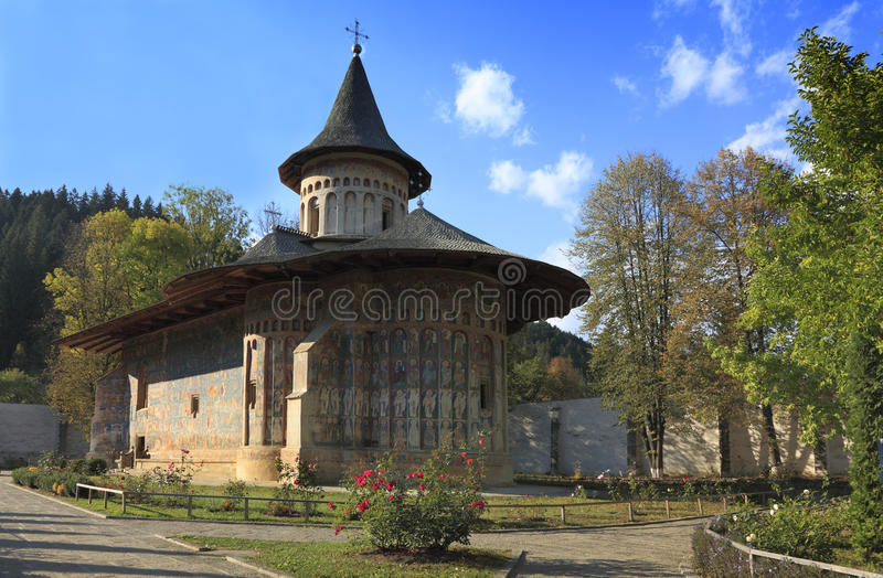 Voronet Monastery,Moldavia,Romania stock photo