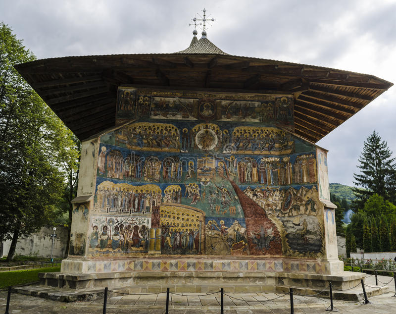 Voronetklooster - Roemenië - Bucovina royalty-vrije stock afbeelding