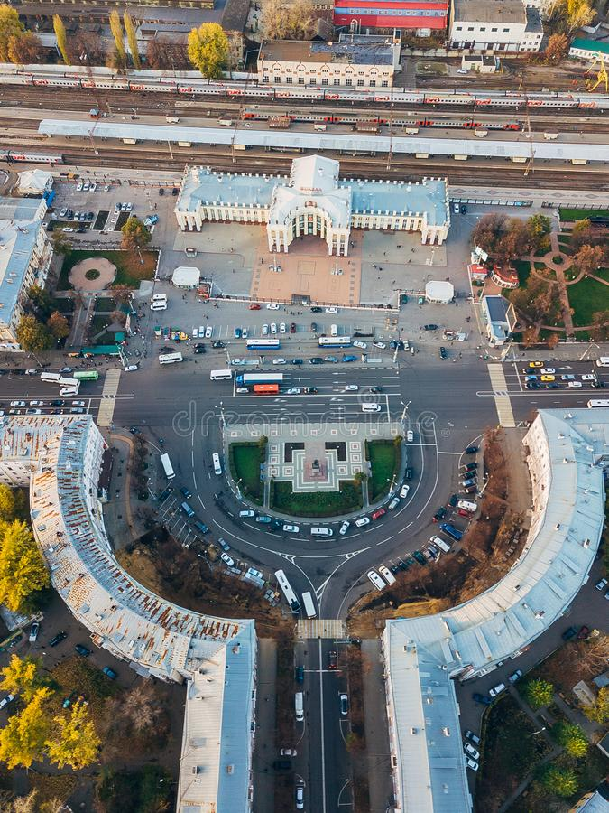 voronezh Τοπ άποψη από τον κηφήνα στοκ εικόνα με δικαίωμα ελεύθερης χρήσης