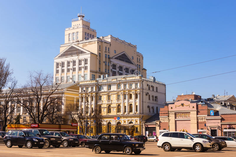 Voronezh. Lenins Area. Faculty Of VGU Editorial Photography