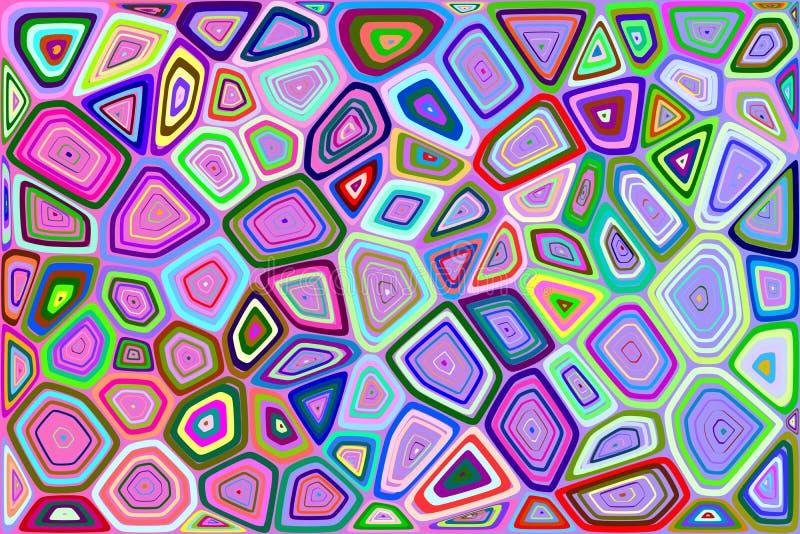 Voronoi背景 向量例证
