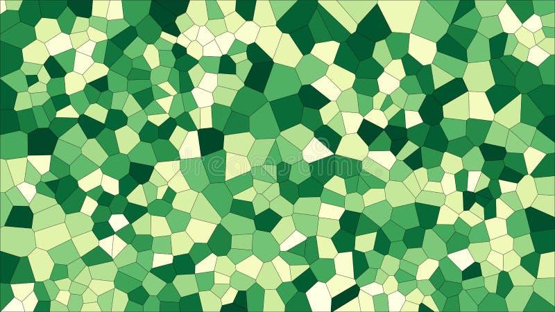 Voronoi coloré en verre souillé, abrégé sur le vecteur ENV Modèle irrégulier de fond de cellules 2D texture géométrique de grille illustration stock