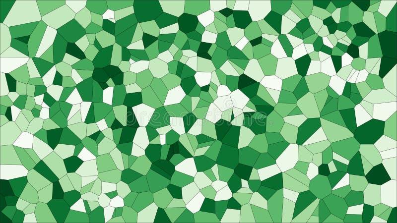 Voronoi coloré en verre souillé, abrégé sur le vecteur ENV Modèle irrégulier de fond de cellules 2D texture géométrique de grille illustration de vecteur