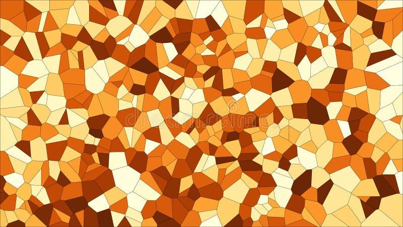 Voronoi coloré en verre souillé, abrégé sur le vecteur ENV Modèle irrégulier de fond de cellules 2D texture géométrique de grille illustration libre de droits