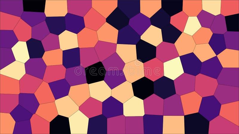 Voronoi variopinto del vetro macchiato, estratto di vettore ENV Modello irregolare del fondo delle cellule 2D struttura geometric illustrazione di stock