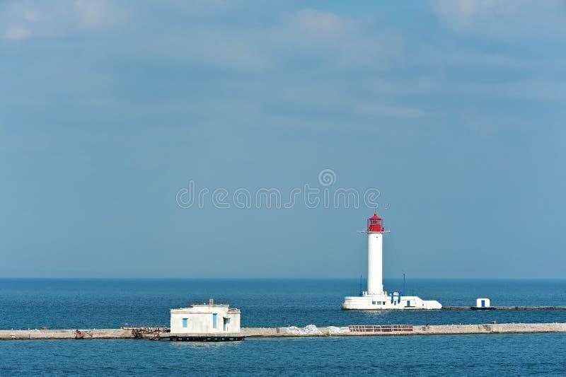 Vorontsov Lighthouse in Odesa, Ukraine. The view to The Vorontsov Lighthouse in Odesa, Ukraine stock image