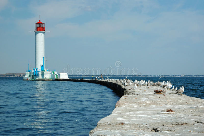 Vorontsov Lighthouse, Odessa gulf, Ukraine stock photo