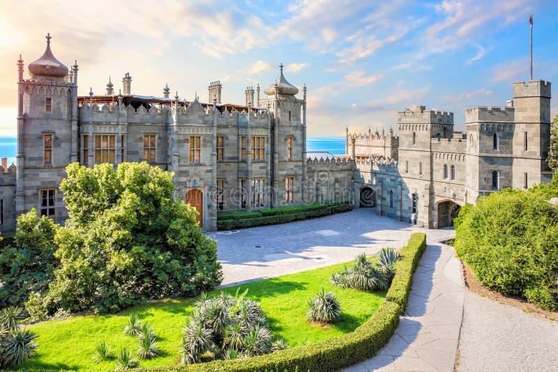 Vorontsov Palace, a famous landmark in  Crimea.  stock image