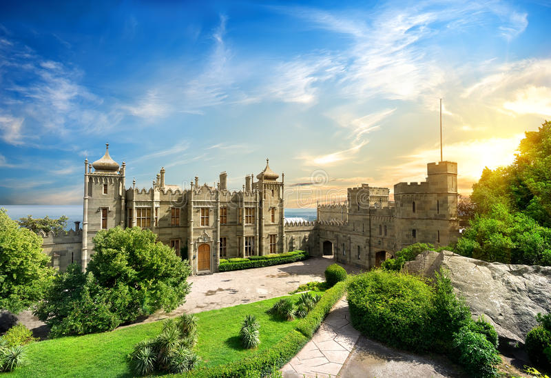 Vorontsov Palace. In the town of Alupka, Crimea, Ukraine royalty free stock photography