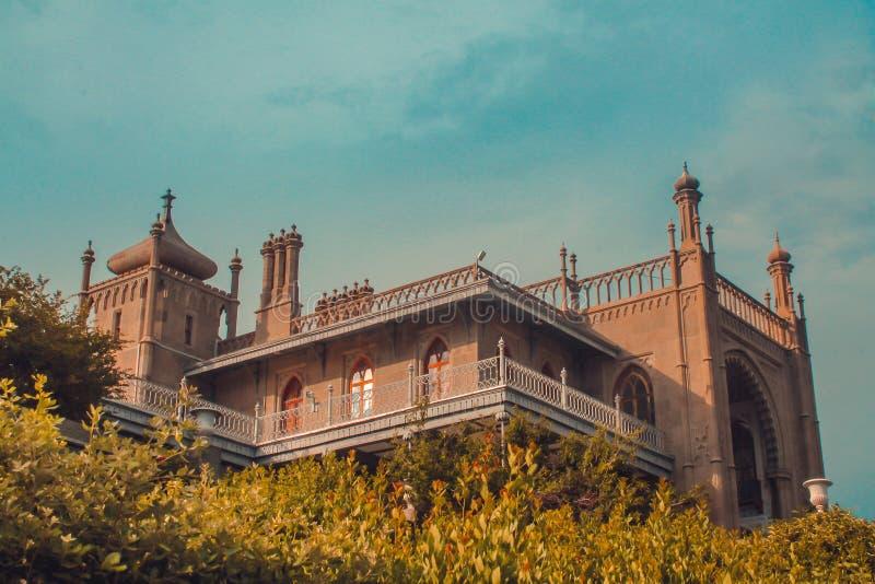 Vorontsov Palace. In Alupka, Crimea royalty free stock image