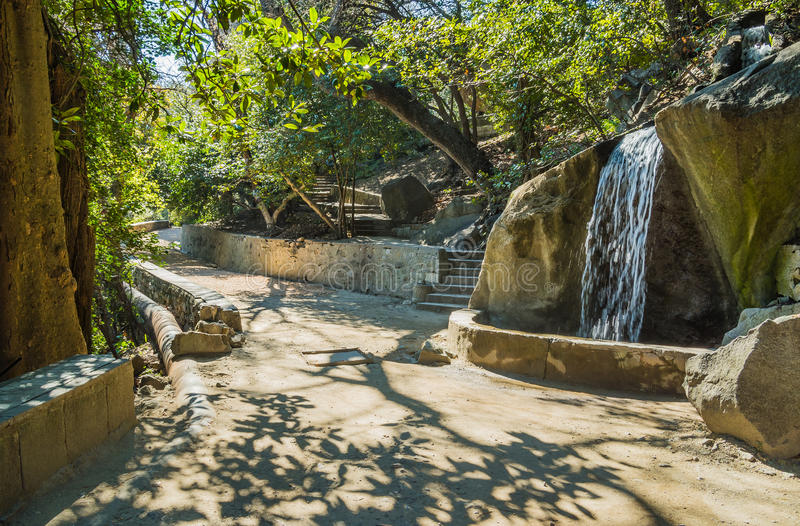 The Vorontsov Park. In Alupka town. Crimea royalty free stock photo