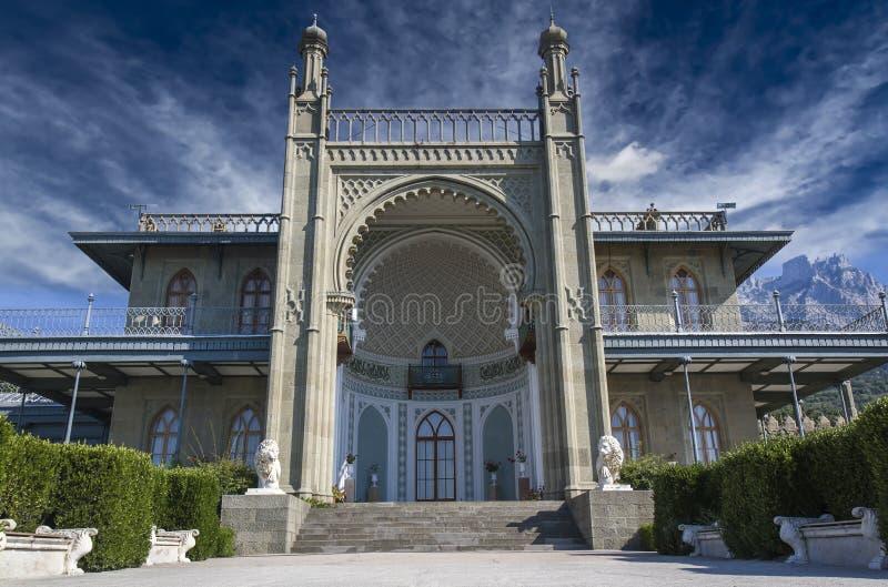 Vorontsov slott royaltyfri foto