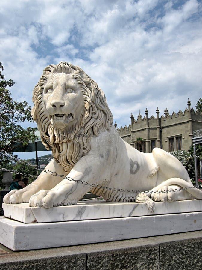 Vorontsov slottYalta lejon royaltyfri bild