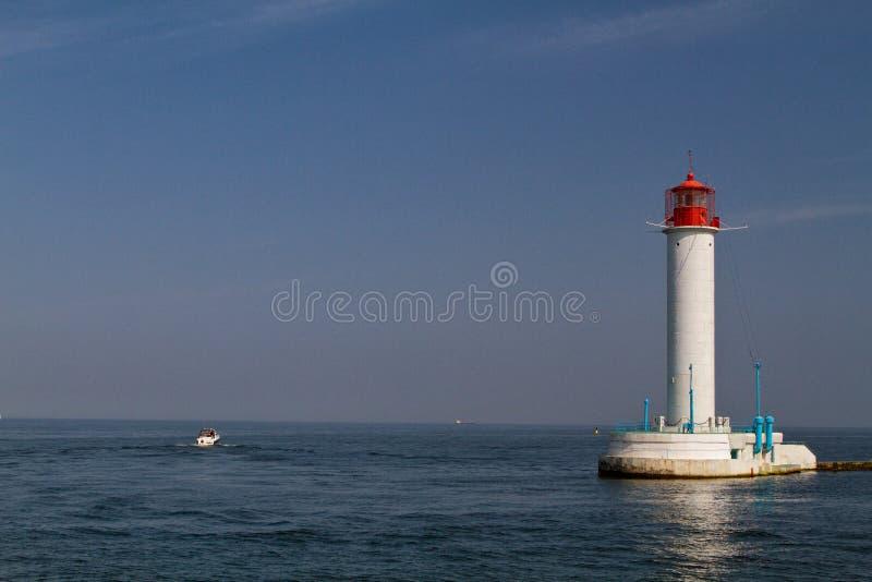 Vorontsovsky latarnia morska w Odessa fotografia royalty free