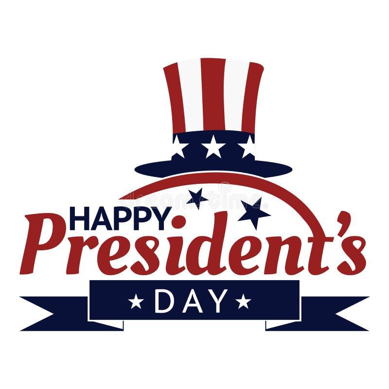 Vorrat-Plakathintergrund glücklichen Präsidenten Tages Auf lagervektorabbildung lizenzfreie abbildung