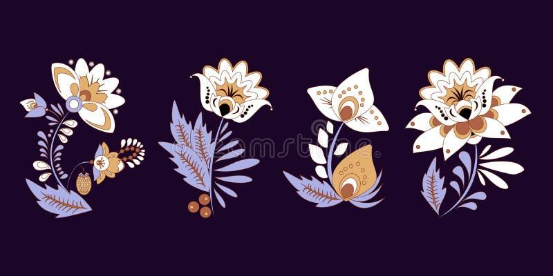 Vorratsatz des flolar Blumenstraußes orientalisch oder arabisch, Russland t stockfotos