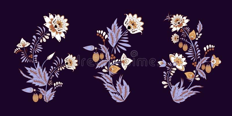 Vorratsatz des flolar Blumenstraußes orientalisch oder arabisch, Russland t stockbilder