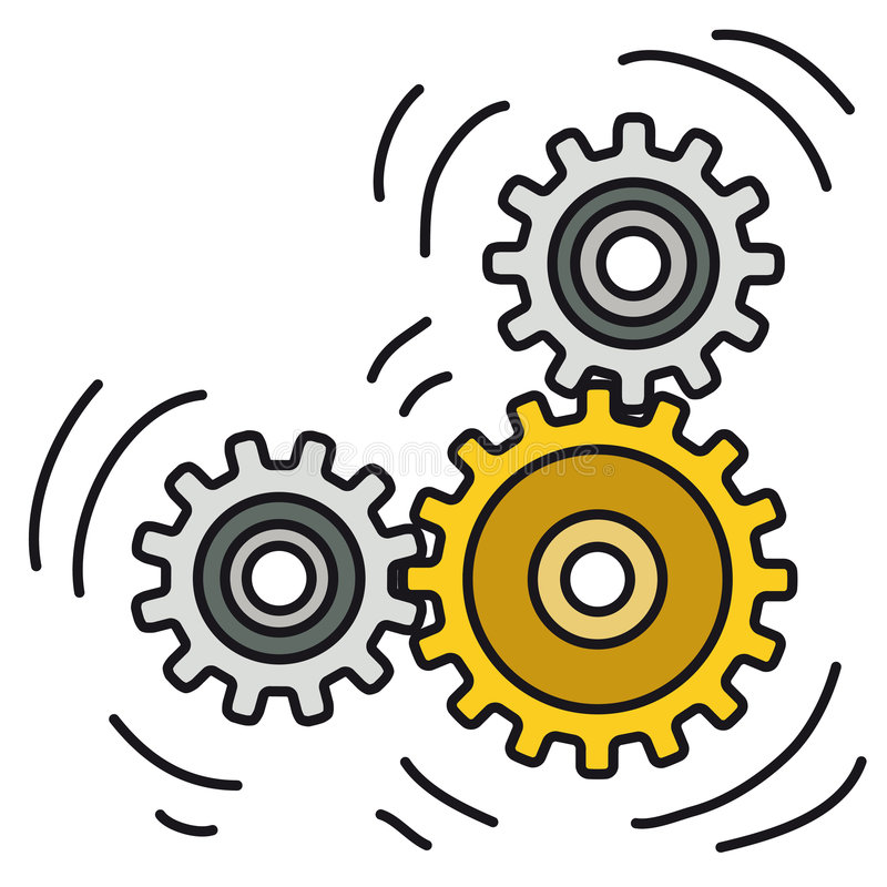 Vorrichtung in der Bewegung (Vektor) lizenzfreie abbildung