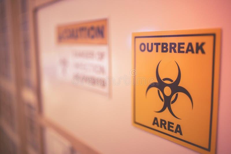 Vorsicht bei Covid19 auf dem Gebiet der Coronavirus-Infektion lizenzfreies stockfoto