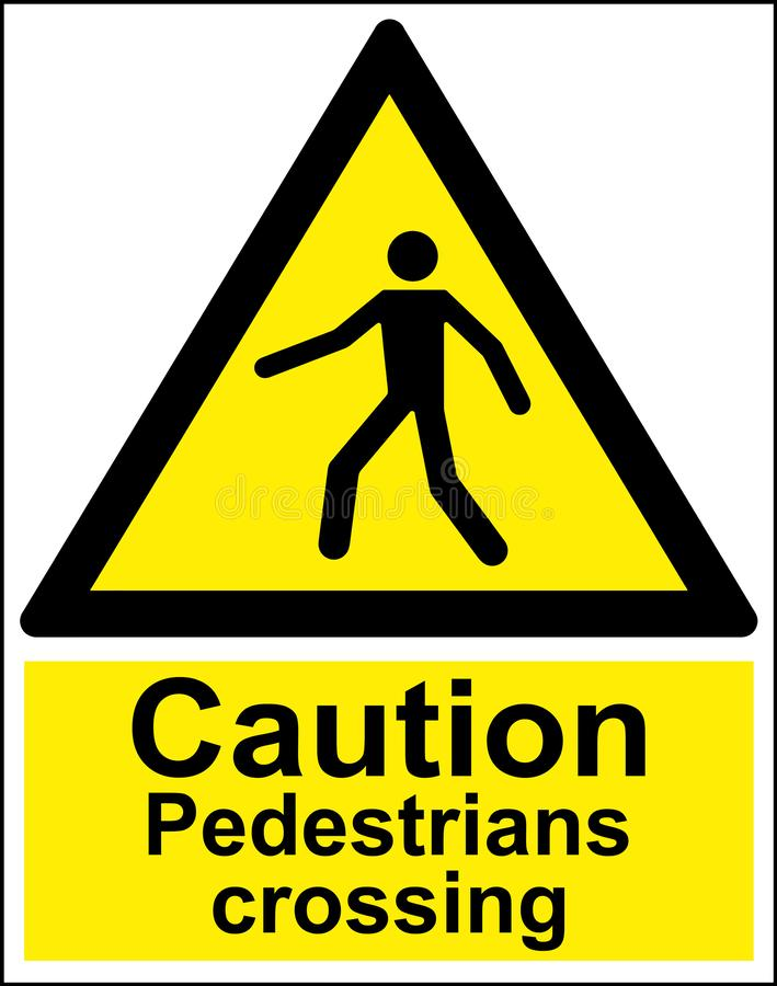 Vorsicht-Fußgängerübergang stockbilder
