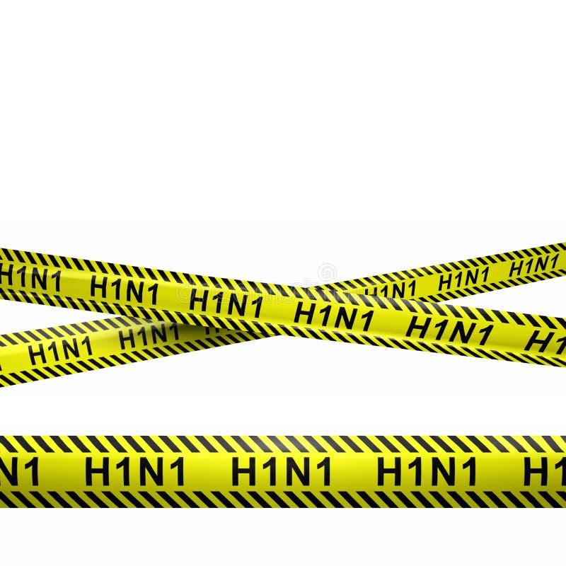 Vorsicht H1N1 streift Illustration lizenzfreie stockfotos