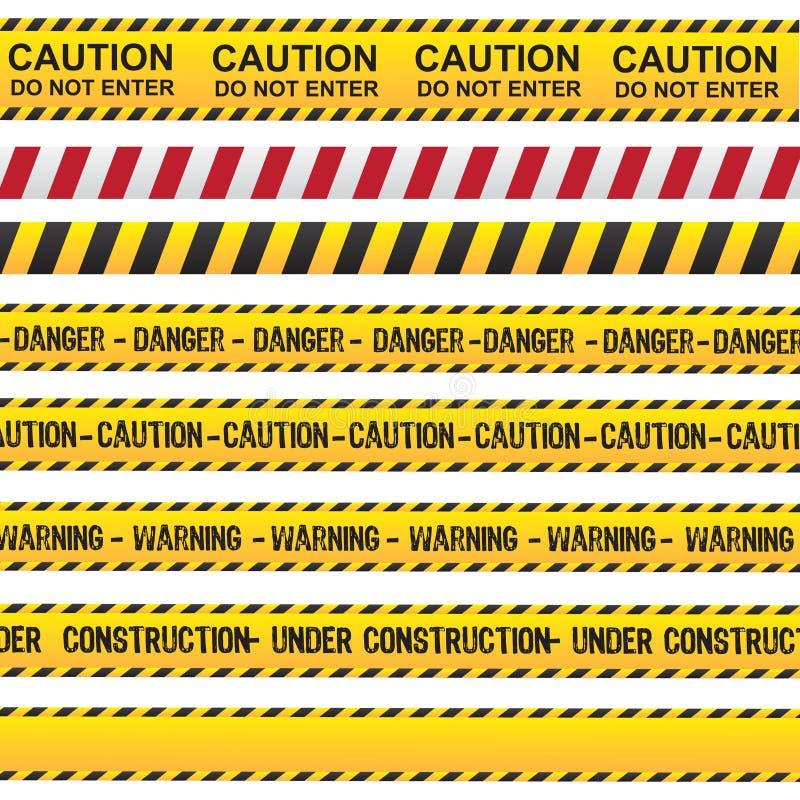 Vorsicht- und Gefahrenband lizenzfreie abbildung