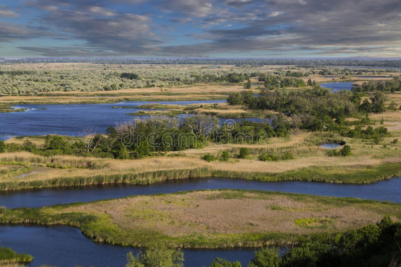 Vorskla river . Top view. Ukraine. Europe royalty free stock photography