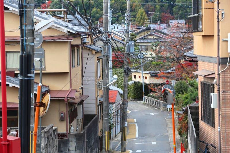 Vorstadt-Japan-Häuser lizenzfreie stockfotos