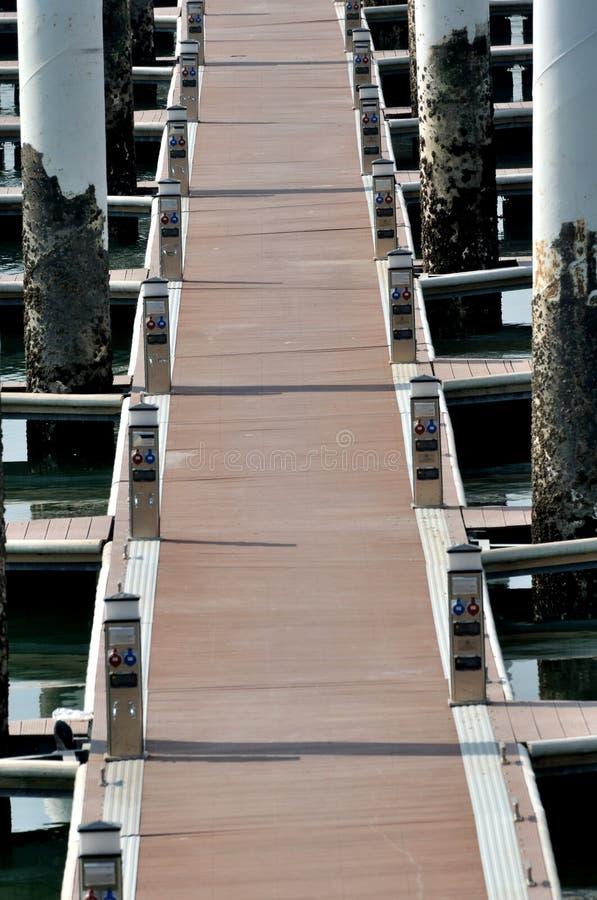 Vorstandpfad auf Dock stockfotos
