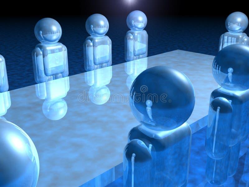 Vorstandssitzung lizenzfreie abbildung