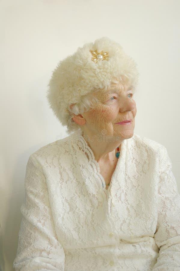 Vorstelijke Bejaarde royalty-vrije stock foto