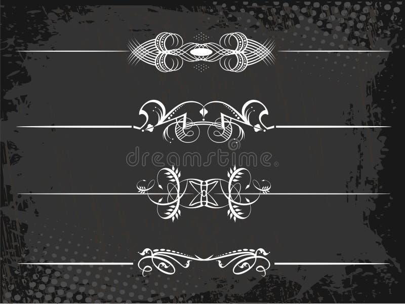 Vorstelijke regellijn met kronen vector illustratie
