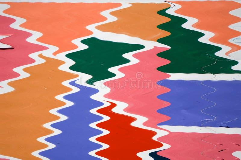 Vorstmotie van kleurrijk geschilderd poeder die op witte achtergrond exploderen Abstract ontwerp van de wolk van het kleurenstof  royalty-vrije illustratie