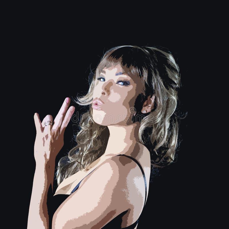 Vortäuschen zu rauchen stockfoto