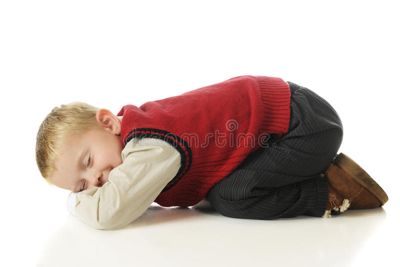 Vortäuschender Schlaf lizenzfreie stockbilder