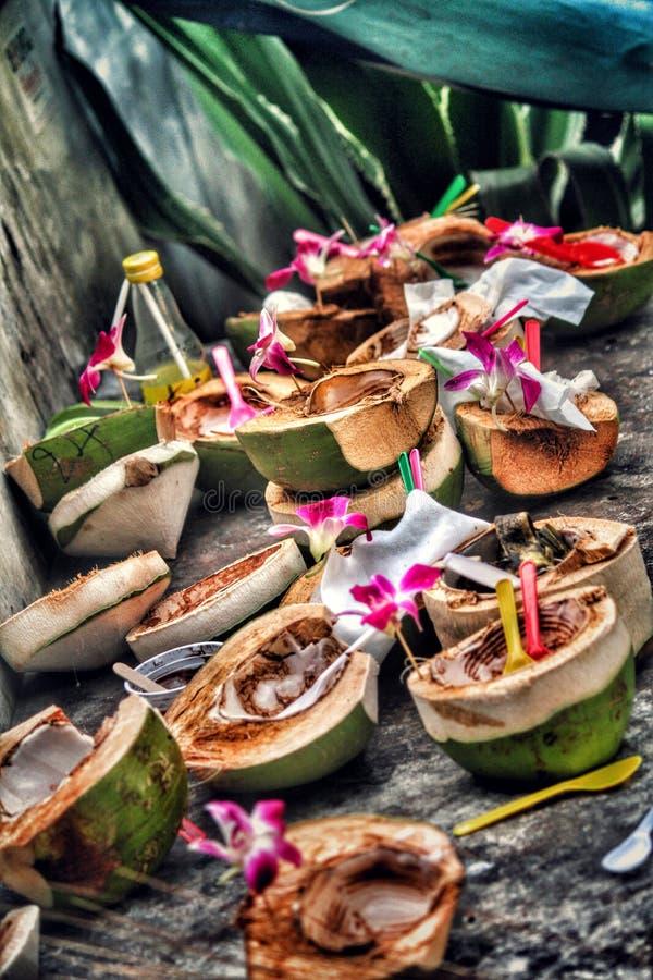 Vorteil der Kokosnuss lizenzfreies stockbild