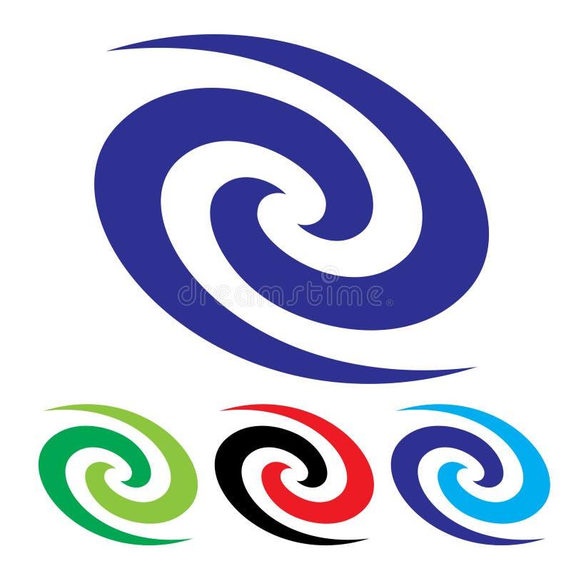 Vortex abstrait de couleur illustration de vecteur