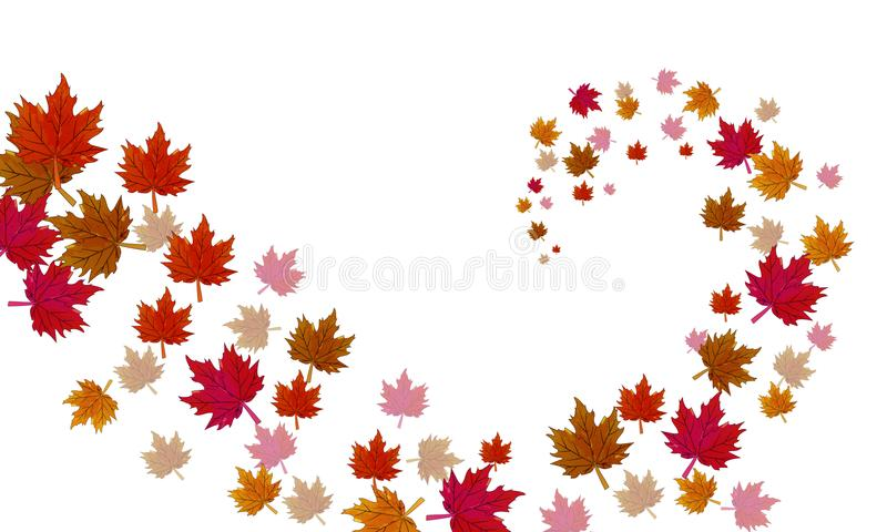 A vortex of autumn leaves stock illustration