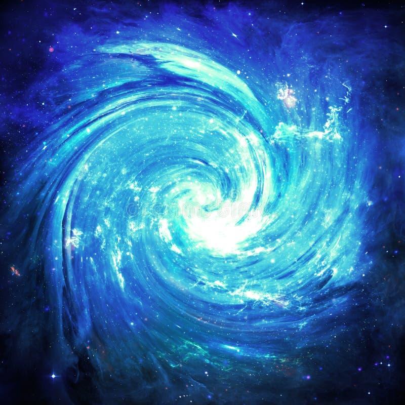 Vortex bleu - éléments de cette image meublés par la NASA illustration libre de droits