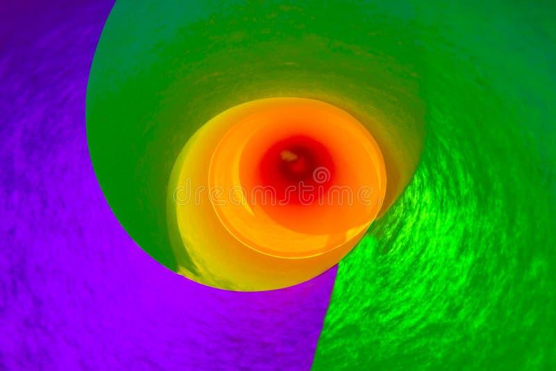 Vortex circulaire coloré photo libre de droits